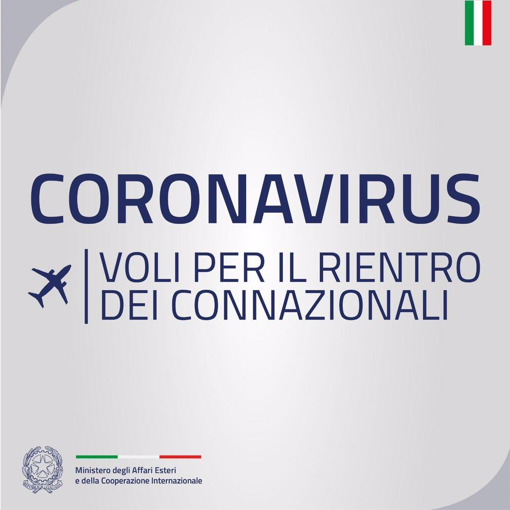 voli rimpatrio alitalia coronavirus