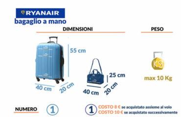 Bagaglio a mano Ryanair: regole, limiti e rimborso smarrimento