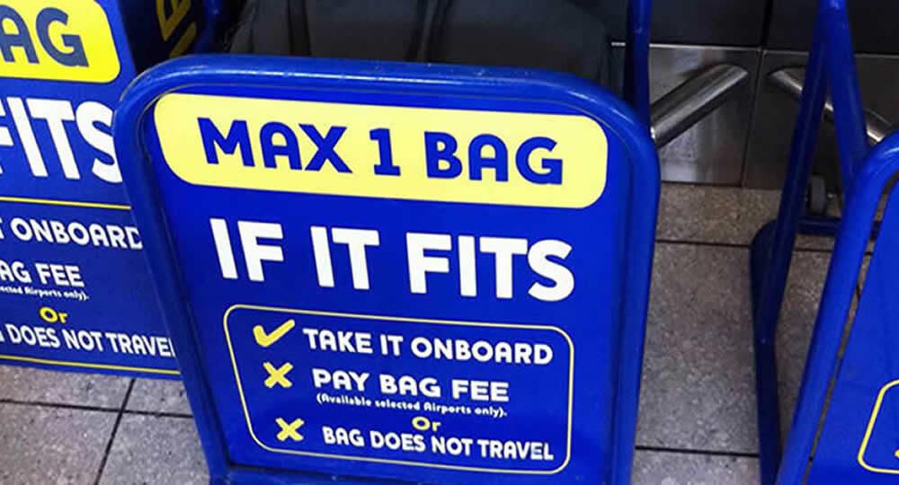 Trasporto bagagli Ryanair: ecco cosa cambia