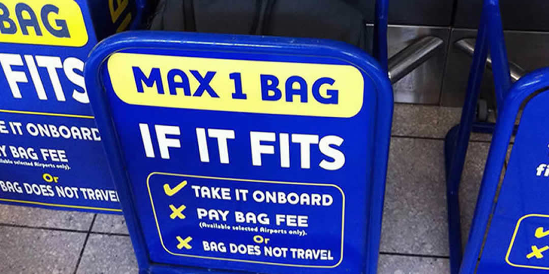 Trasporto bagagli Ryanair